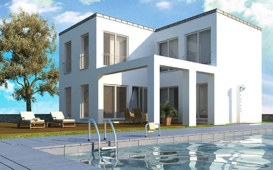 Einfamilienhaus Bauhausstil 165