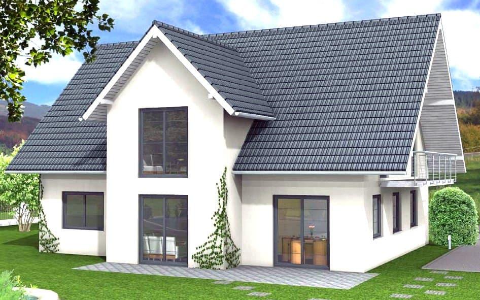 Zweifamilienhaus mit Giebel