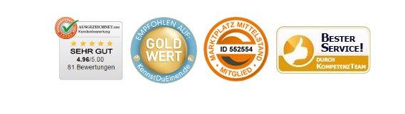 ausgezeichnet.org - Gold Wert - Marktplatz Mittelstand - Bester Service