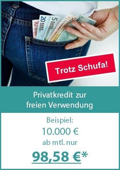 Privatkredit zur freien Verwendung